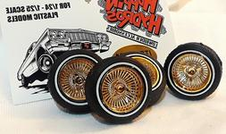 Hoppin Hydros 1/24 1/25 scale BABY Ds GOLD Rims Wheels Tires