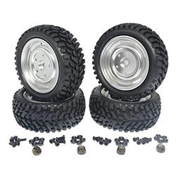 "4-Pack HobbyPark 2.99"" / 76mm 1:10th RC Rally Racing Tires &"