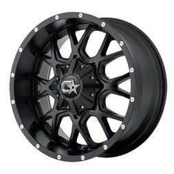 17 inch 17x9 DropStars DS645B Black wheel rim; dual drilled
