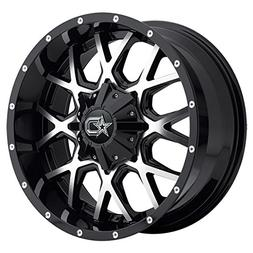 18x9 machined black 645mb rim 8x165 1