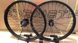 "20"" FIT FREECOASTER WHEELSET BMX BIKE rhd SWR FIT BLK RIMS S"
