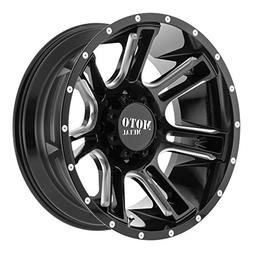 22x10 Moto Metal 982 Amp Gloss Black Milled 6x135 with -18 O