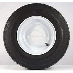 "2PCS 8"" White Spoke Trailer Tires & Rims 4.80-8 White Wheels"