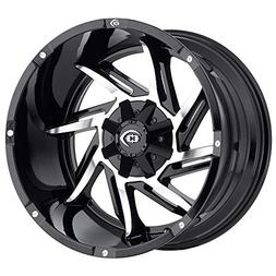 Vision 422 Prowler Gloss Black Machined Face Wheel with Mach