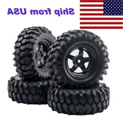 4pcs 12mm Hub Wheel Rim & Tires  for 1/10 Off-Road RC Rock C