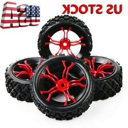 4Pcs Rally Tyre Tires Wheel Rims 12mm Hex For HSP HPI 1:10 O
