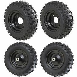 4set 4.10-6 Go Kart ATV Wheelire Rims Front and Rear Tires 4