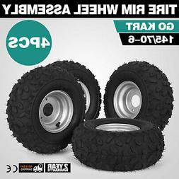 4X Go-kart ATV Tire with Wheel Assembly 145/70-6 Front Wheel