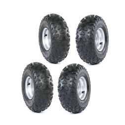 4x Tire with Rim Wheel Assembly 145/70-6 for Go kart Mini Bi