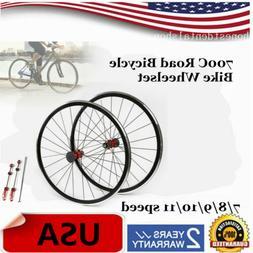 700C Ultralight Road Bicycle Bike Wheel Front Rear Wheel Whe