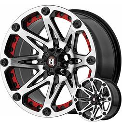 Ballistic 814 Jester 17x9 6x135 +12mm Black/Machined Wheel R