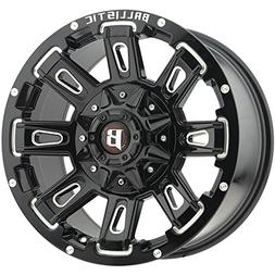 Ballistic 958 Ravage 17x9 8x170/8x180 +12mm Black/Milled Whe