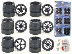 Black Replacement Rims For 1/24 Scale Cars & Trucks