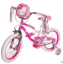 Hello Kitty Girls' Bike 16 inch with training wheels, bag an