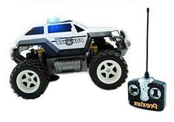 Prextex Remote Control Monster Police Truck Radio Control Po