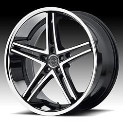 abl 7 22x10 machined black wheel rim