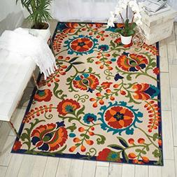 Nourison Aloha Multicolor Indoor/Outdoor Area Rug 3 Feet 6 I