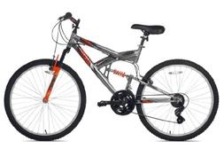 Northwoods Aluminum Full Suspension Mountain Bike, 26-Inch,