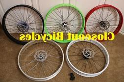 ANY COLOR!  Fat Tire Cruiser Bicycle Front Wheel / Disc Brak