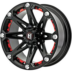 Ballistic Jester 17x9 Black Wheel / Rim 5x5 with a -12mm Off