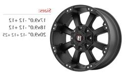 Ballistic Morax 17 Black Wheel / Rim 5x135 & 5x5.5 with a 12