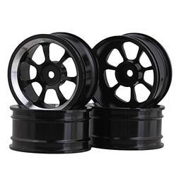 BQLZR Black Aluminum Alloy RC 1:10 On-Road Racing Car Wheel