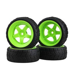 BQLZR Black and Green RC 1: 10 On-road Racing Car Plastic Wh