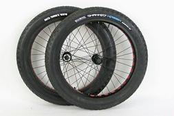 Bullseye Monster Wheel Set 26 inch Aluminum Rims Fat Tire Bi