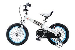 """RoyalBaby CubeTube Buttons 18""""  Bicycle for Kids, Blue"""