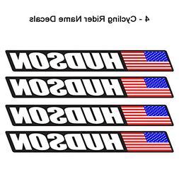 4 piece Custom Bicycle Frame Name USA Decal Sticker Set - ro