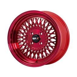 F1R F01 Machined Red Wheel with Machined Finish