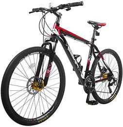 "Merax Finiss 26"" Aluminum 21 Speed Mountain Bike with Disc B"