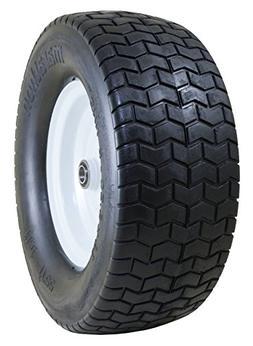 "Marathon 16x6.50-8"" Flat Free Tire on Wheel, 3"" Hub, 3/4"" Bu"