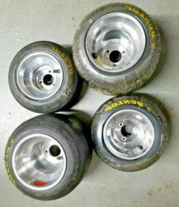 Go Kart Wheels and Tires, Set of 4, Optional Wheel Hubs, Use