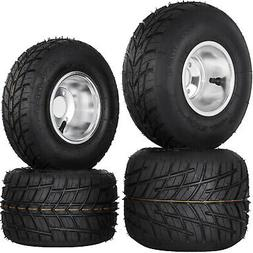 Go Kart Wheels Go Kart Rain Tires Set of 4 Front and Rear Du