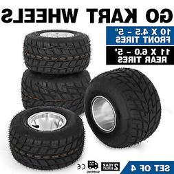 Go Kart Wheels Go Kart Rain Tires Set of 4 Rim & Tyre Set 3