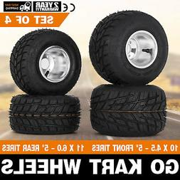 Go Kart Wheels Go Kart Rain Tires Set of 4 Front and Rear Dr