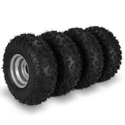 Go Kart Wheels Go Kart Rain Tires Set of 4 Rim & Tyre Set 3