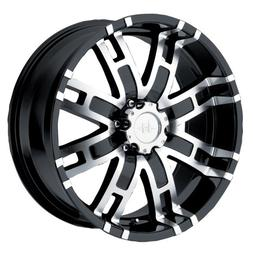 Helo HE835 Gloss Black Wheel With Machined Face