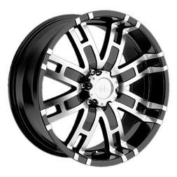 Helo HE835 Gloss Black Machined Wheel -