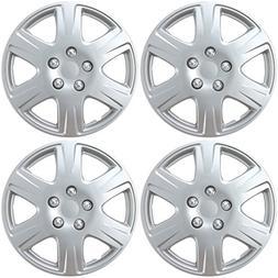 "BDK HK993 Toyota Corolla Style Hubcaps 15"" Wheel Silver Repl"