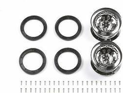 Tamiya Hop-Up Options OP.1101 CR-01 Plating Standard Wheel 2