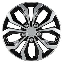 14 inch Hubcaps Spyder Performance Black Silver Wheel Cover