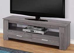 "Monarch Specialties I 2603 TV Stand-48"" L 2 Storage Drawers,"
