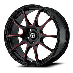Konig Illusion Black Ball Cut Red Wheel