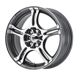 incident graphite machined wheel 14x6 4x100mm