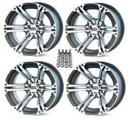 "ITP SS212 ATV Wheels/Rims Machined 12"" Honda Foreman Rancher"