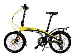 """K7S Camp 20"""" Alloy 16 Speed Folding Bike Disc Brake Thunderb"""