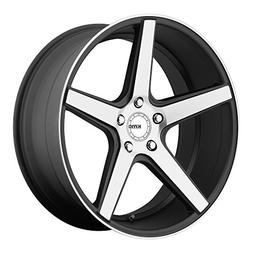 KMC Wheels KM685 District Satin Black Wheel With Machined Fl