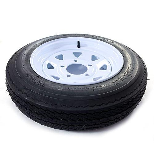 "MILLION 14"" Spoke Trailer Wheel with ST205/75D14 Tire bolt circle,"